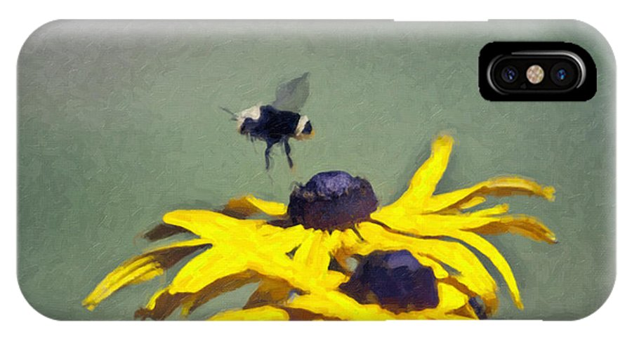 Bee IPhone X Case featuring the photograph Choosing by Larry Keahey