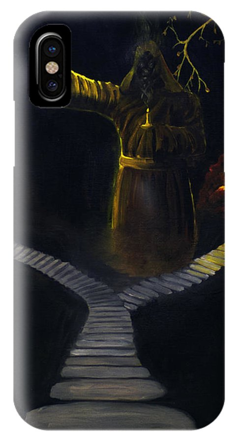 2d IPhone X Case featuring the painting Chosen Path by Brian Wallace