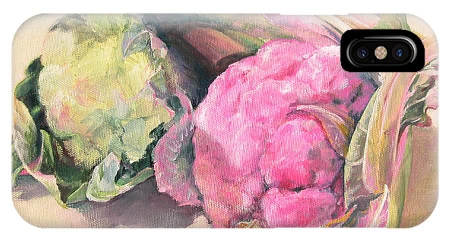 Flower IPhone X / XS Case featuring the painting Choux by Muriel Dolemieux