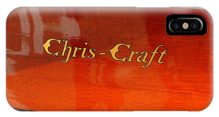 Logo IPhone X Case featuring the photograph Chris Craft Logo by Michelle Calkins