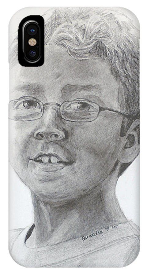 Chris IPhone Case featuring the drawing Chris Dovick by Quwatha Valentine