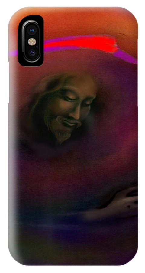 Jesus IPhone X Case featuring the painting Christ by Kevin Middleton