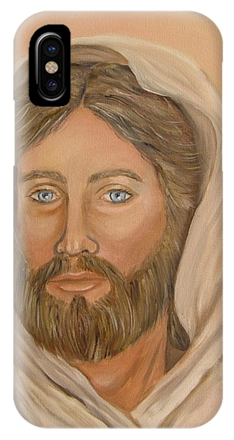 Christ IPhone Case featuring the painting Christ by Quwatha Valentine