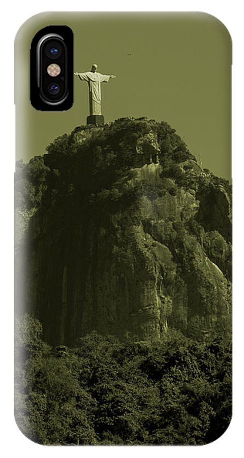 Interiors IPhone X Case featuring the photograph Christ The Redeemer by Fabio Sola