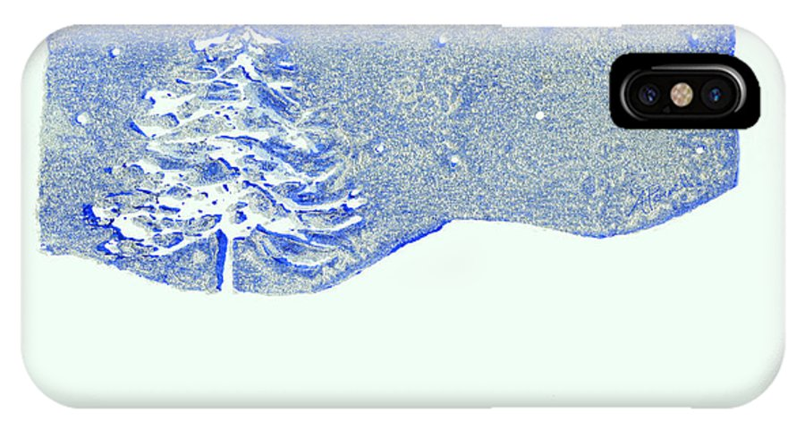 Christmas IPhone X Case featuring the mixed media Christmas Card 2 by Ann Powell