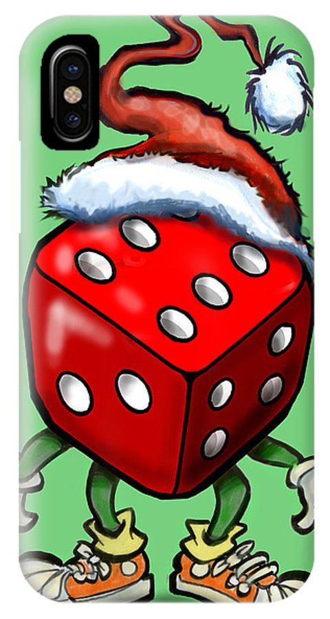 Christmas IPhone X / XS Case featuring the greeting card Christmas Casino Party by Kevin Middleton