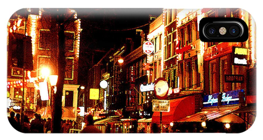 Night IPhone Case featuring the photograph Christmas In Amsterdam by Nancy Mueller