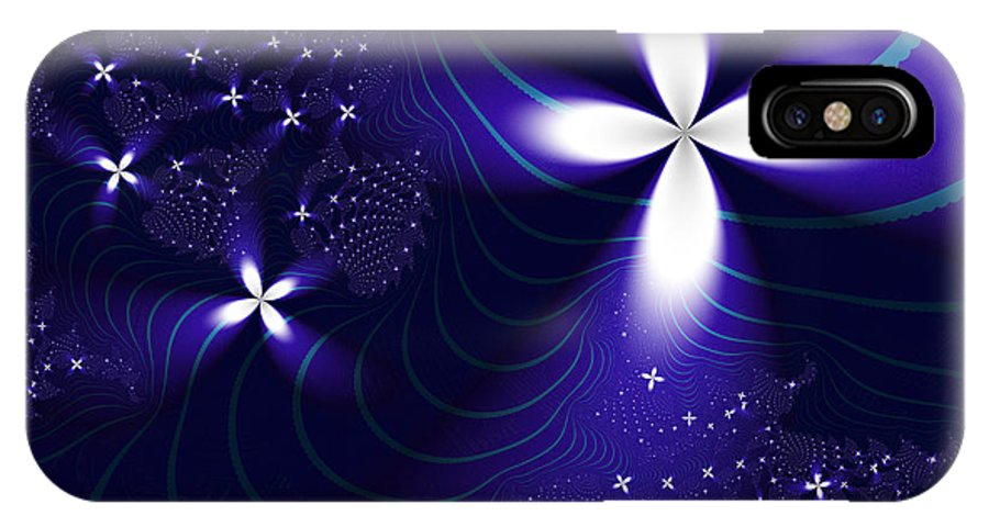 Fractal IPhone X Case featuring the digital art Christmas Star by Vicky Brago-Mitchell