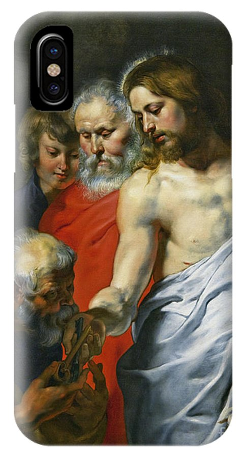 Christ's IPhone X Case featuring the photograph Christ's Charge To Peter by Sir Peter Paul Rubens