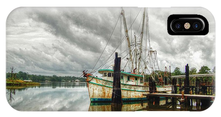 Alabama Photographer IPhone X Case featuring the digital art Christy Lynn On Bon Secour by Michael Thomas