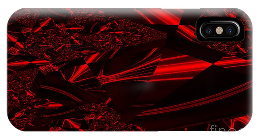 Clay IPhone X Case featuring the digital art Chrome In Red by Clayton Bruster