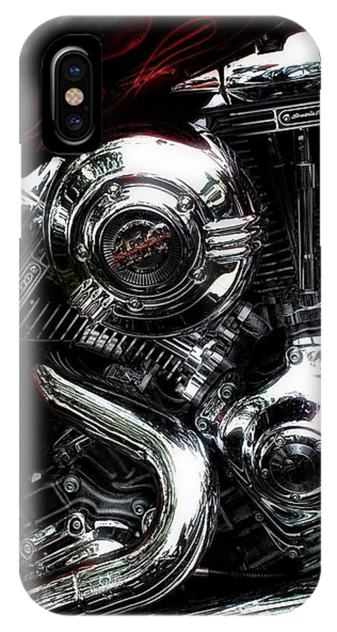 Harley IPhone X Case featuring the photograph Chromicity 2 by Louise Reeves