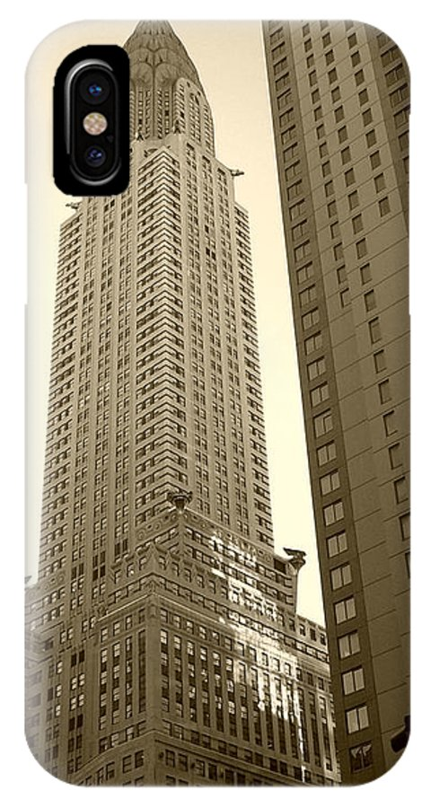 New York IPhone X Case featuring the photograph Chrysler Building by Debbi Granruth