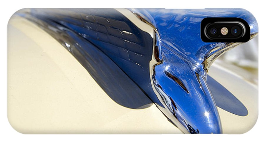 Chrysler IPhone X Case featuring the photograph Chrysler New Yorker Deluxe Hood Ornament by Larry Keahey