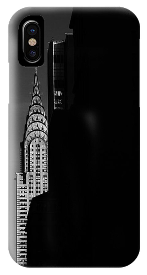 Chrysler IPhone X Case featuring the photograph Chrysler by Von Hoffman