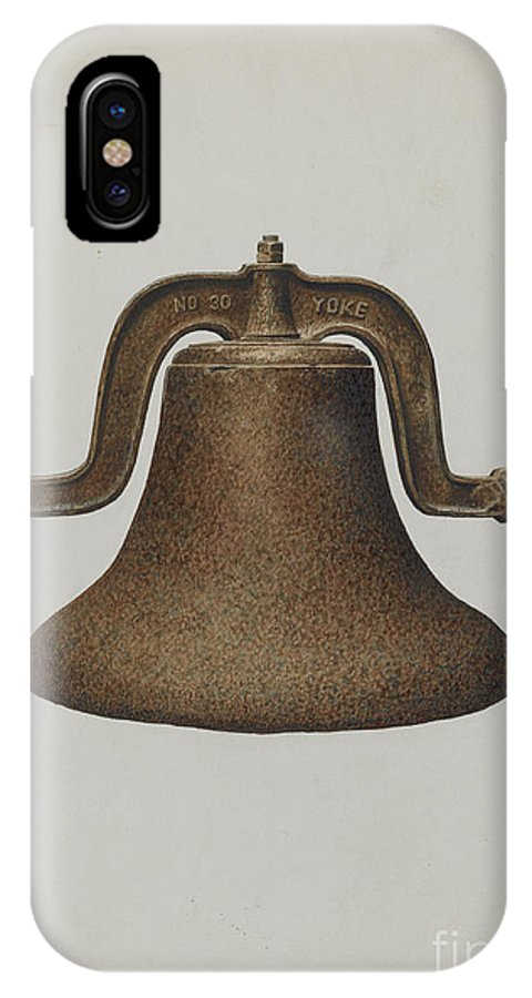 IPhone X Case featuring the drawing Church Bell by Edith Towner
