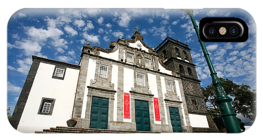 Catholic IPhone X Case featuring the photograph Church In Ribeira Grande by Gaspar Avila