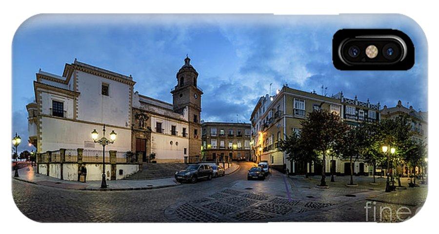 Andalucia IPhone X Case featuring the photograph Church Of Santo Domingo Panorama Cadiz Spain by Pablo Avanzini