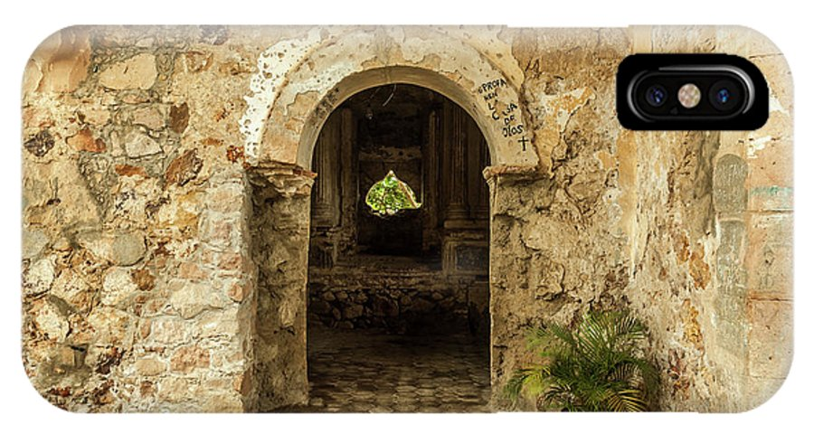 Landscape IPhone X Case featuring the photograph Church Ruins At El Rosario, Sinaloa by Javier Flores