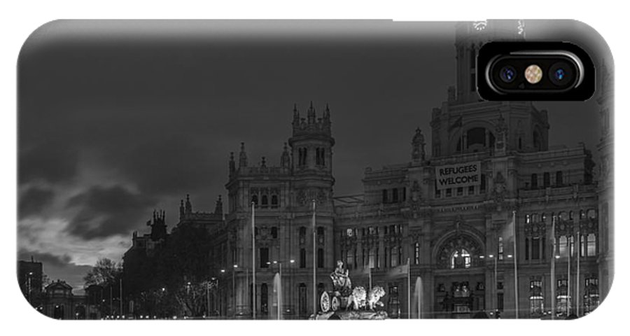 Spain IPhone X / XS Case featuring the photograph Cibeles Square Madrid Spain by Pablo Avanzini