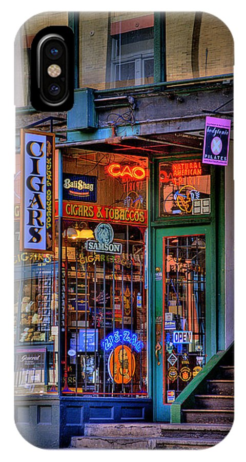 Pioneer Square Seattle IPhone X Case featuring the photograph Cigar Store by David Patterson