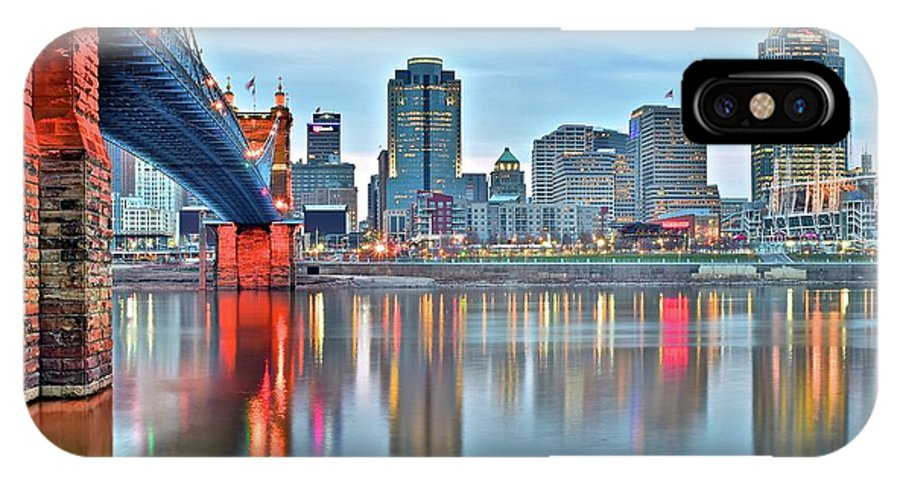 Cincinnati IPhone X Case featuring the photograph Cincinnati At Ground Level by Frozen in Time Fine Art Photography