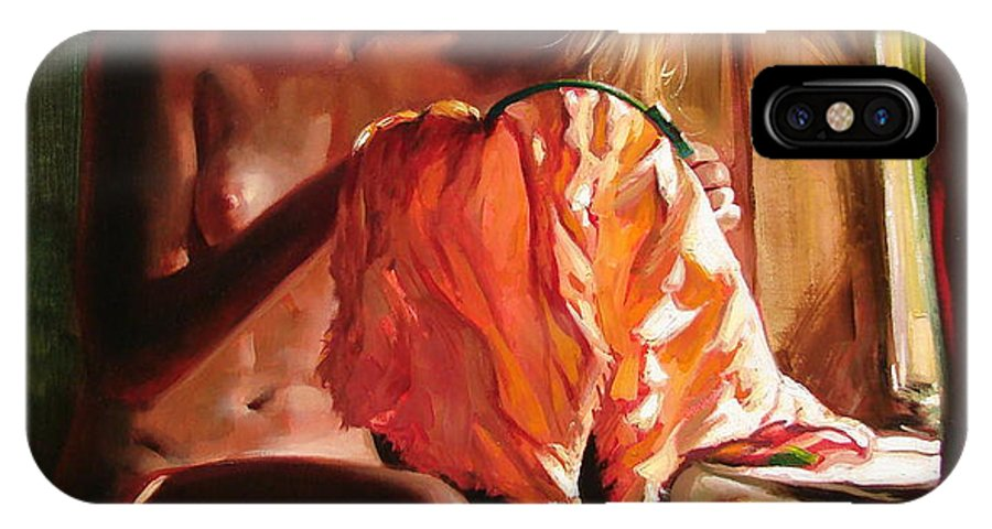 Ignatenko IPhone X Case featuring the painting Cinderella by Sergey Ignatenko