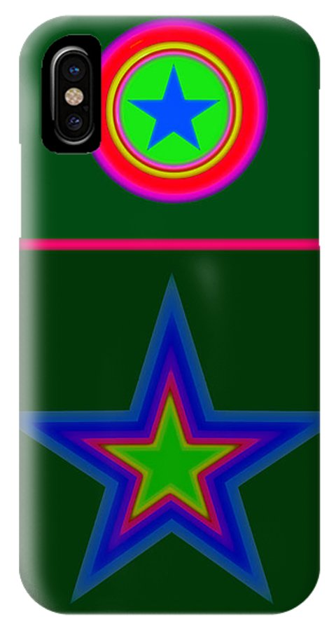 Circus IPhone X Case featuring the digital art Circus Green by Charles Stuart