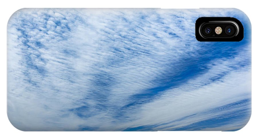Blue Sky IPhone X Case featuring the photograph Cirrocumulus by Evan Christie