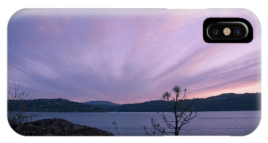 Purple IPhone X Case featuring the photograph Cirrus Fan by Idaho Scenic Images Linda Lantzy