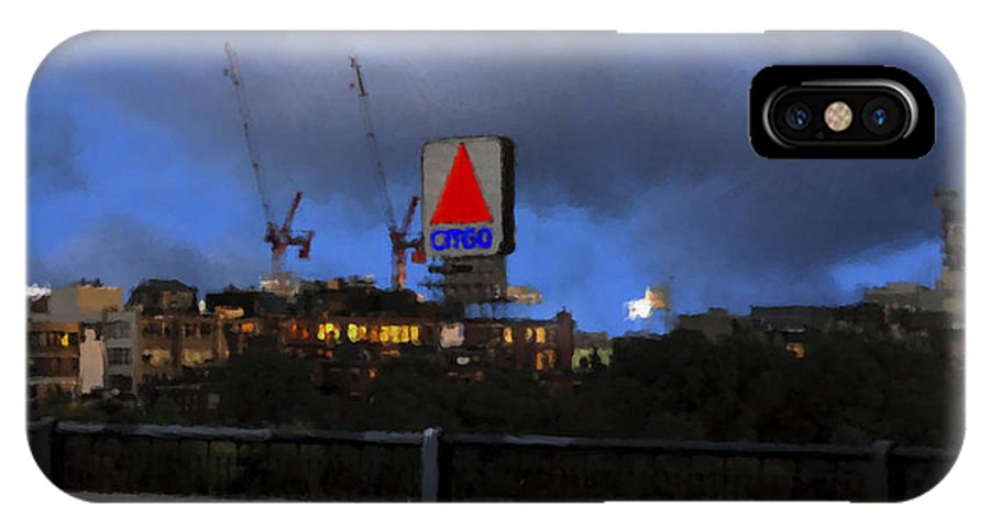 Citgo Sign IPhone X Case featuring the digital art Citgo Sign by Edward Cardini