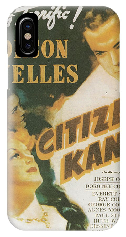 Citizen Kane IPhone X Case featuring the painting Citizen Kane - Orson Welles by Georgia Fowler
