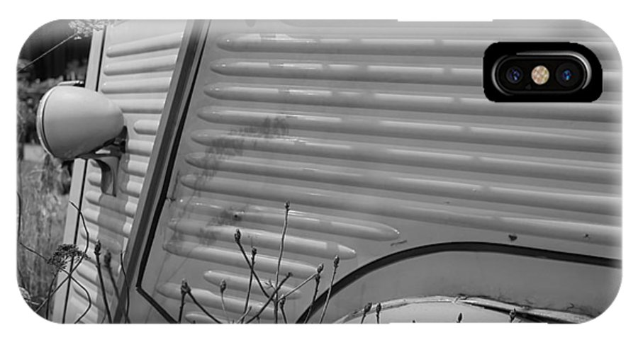 Richard Reeve IPhone X Case featuring the photograph Citroen H Van In Mono Study 1 by Richard Reeve