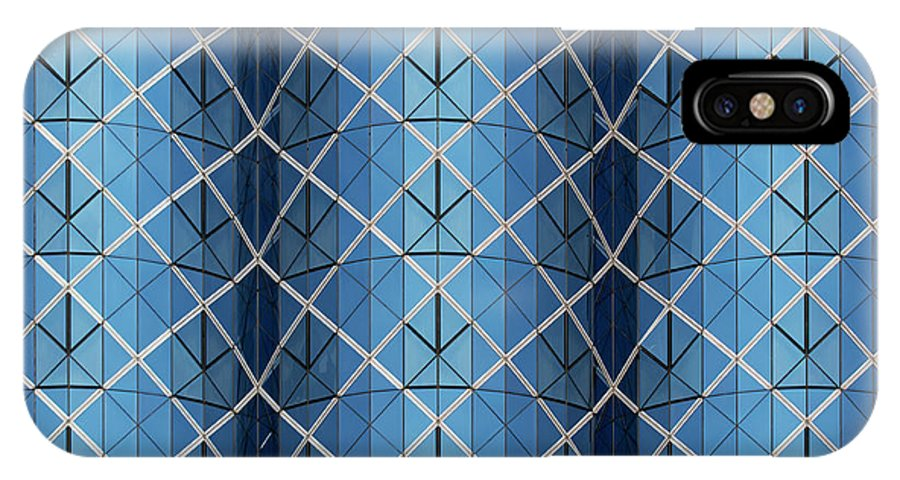 Urban IPhone X Case featuring the photograph City Grids 25 by Stuart Allen
