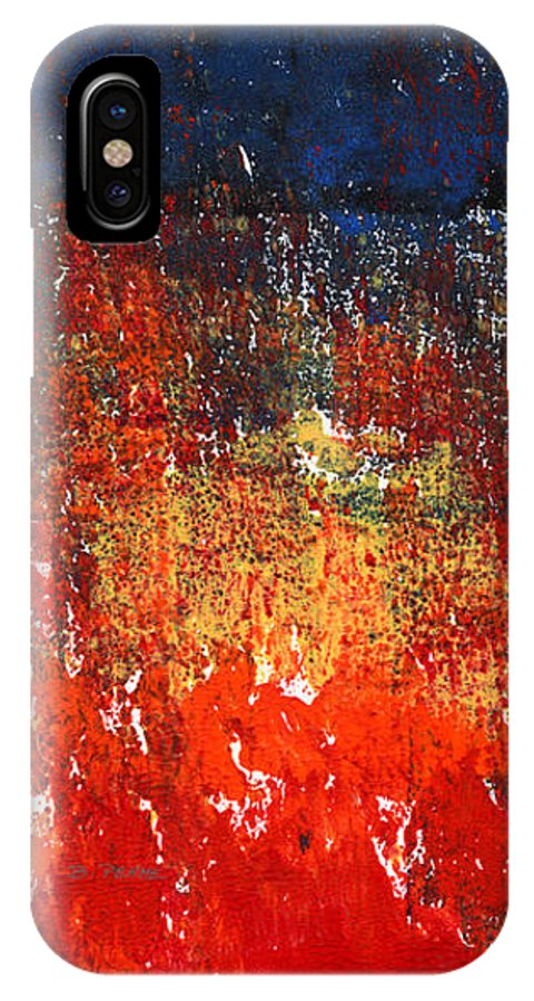 Abstract Landscape IPhone X Case featuring the painting City Lights by Betty Pehme