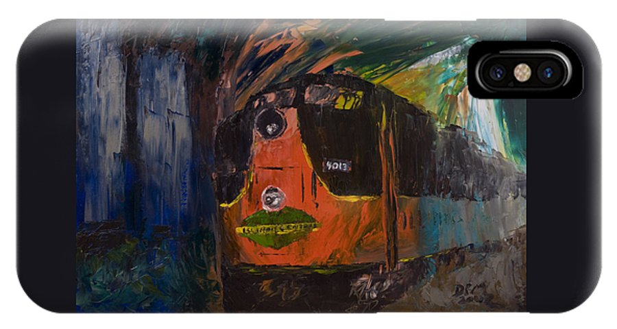 Train IPhone Case featuring the painting City Of New Orleans by David McGhee