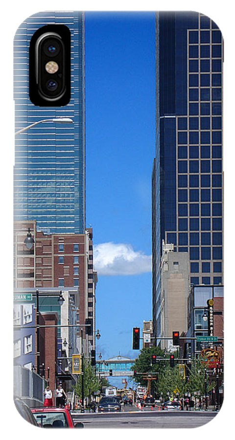 Kansas City IPhone X Case featuring the photograph City Street Canyon by Steve Karol