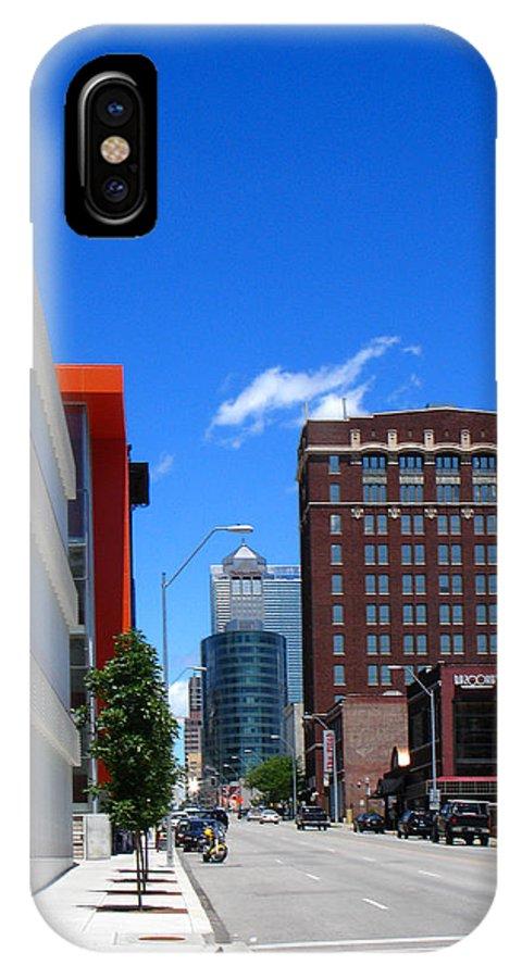 Kansas City IPhone X Case featuring the photograph City Street by Steve Karol