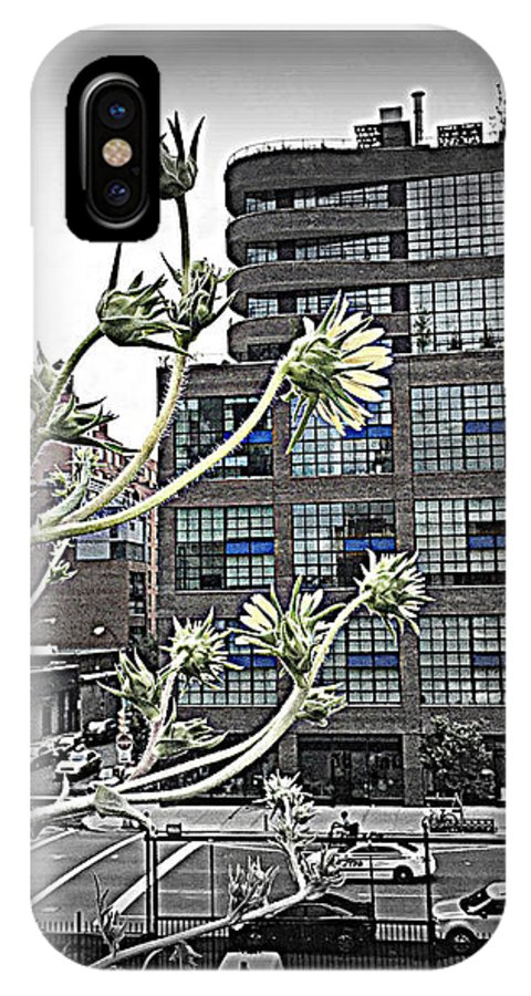 Black And White IPhone X / XS Case featuring the photograph City Sway by Beth Saffer