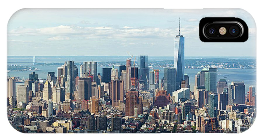 New IPhone X / XS Case featuring the photograph Cityscape View Of Manhattan, New York City. by Antonio Gravante