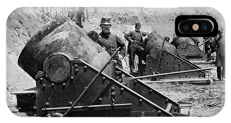 1862 IPhone X Case featuring the photograph Civil War: Union Mortars by Granger
