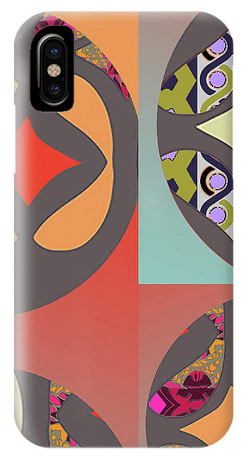 Digital Art IPhone X Case featuring the digital art Claire by Ceil Diskin