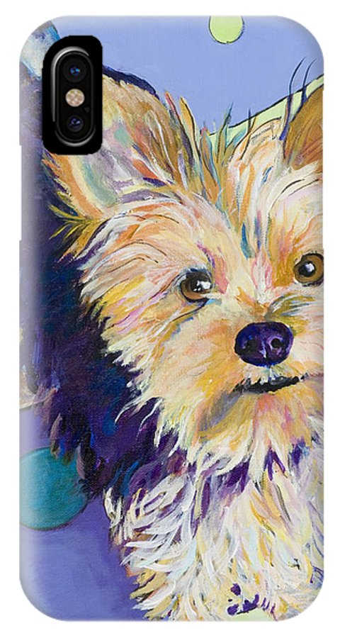 Pet Portraits IPhone Case featuring the painting Claire by Pat Saunders-White