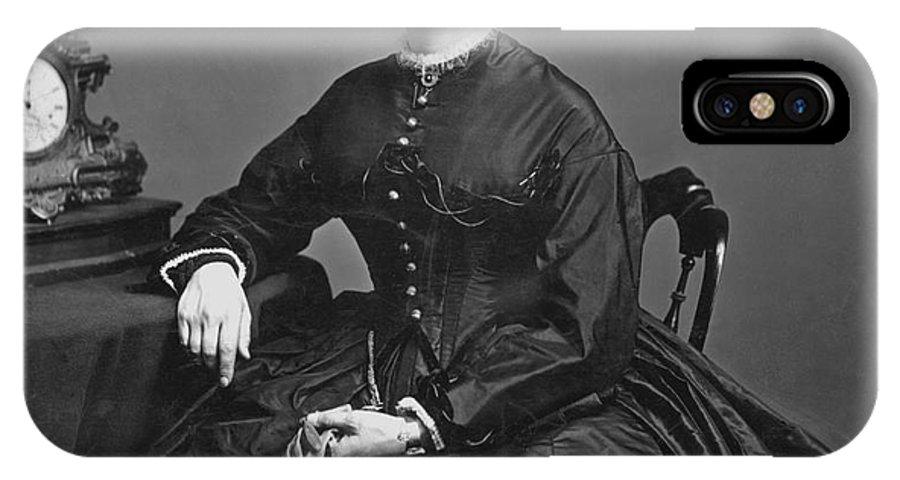 1866 IPhone X Case featuring the photograph Clara Barton (1821-1912) by Granger