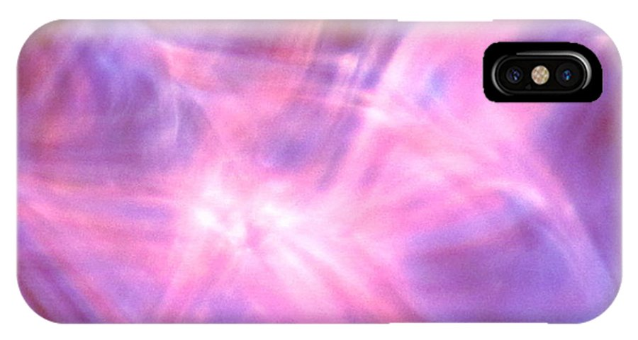 Abstract IPhone X Case featuring the photograph Clarification by Sybil Staples