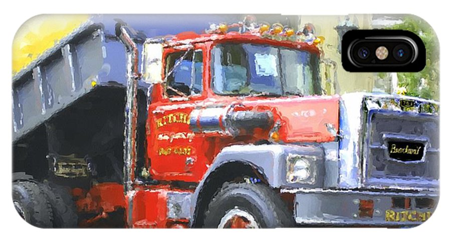 Brockway IPhone X Case featuring the photograph Classic Brockway Dump Truck by David Lane