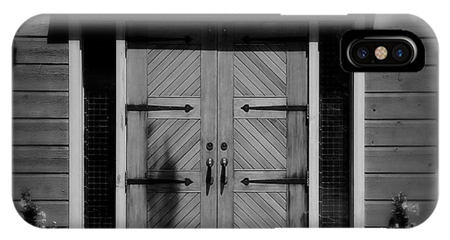Door IPhone X Case featuring the photograph Classic Doors by Perry Webster