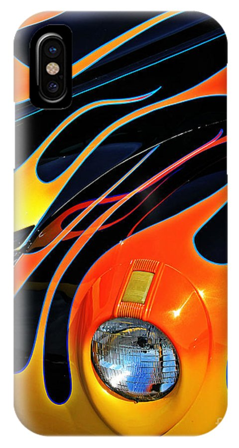 Hot Rod IPhone X Case featuring the photograph Classic Flames by Perry Webster