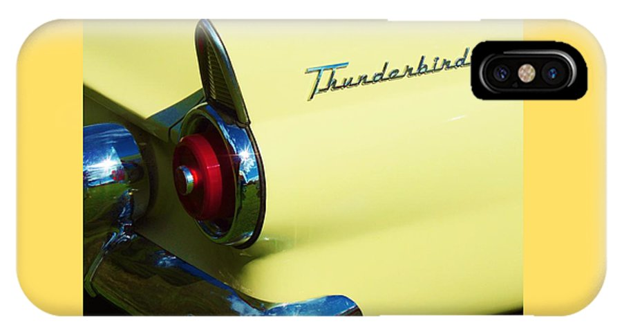 Maine IPhone X / XS Case featuring the photograph 1955 Ford Thunderbird by Lisa Gilliam