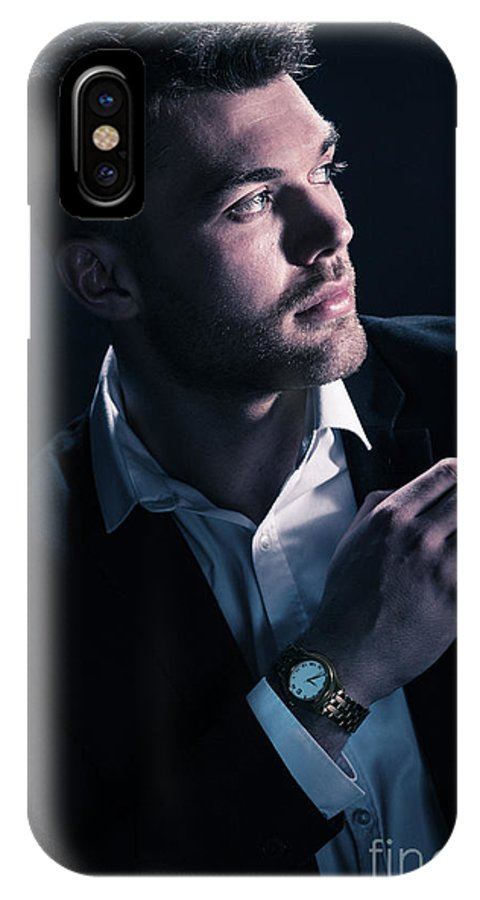 Male IPhone X Case featuring the photograph Classic Male Model by Amanda Elwell